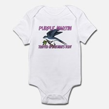 Purple Martin Trapped In A Woman's Body Infant Bod