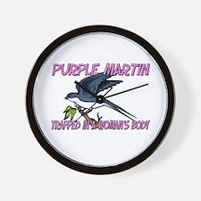 Purple Martin Trapped In A Woman's Body Wall Clock