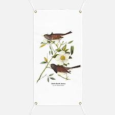 Audubon Dark-Eyed Junco Bird Banner