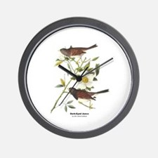 Audubon Dark-Eyed Junco Bird Wall Clock