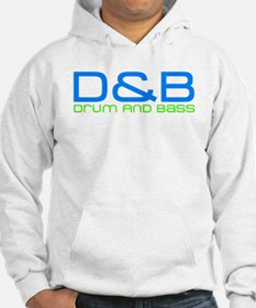 D and B: Drum and Bass Blue Green Logo Hoody