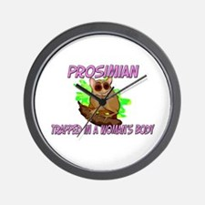 Prosimian Trapped In A Woman's Body Wall Clock