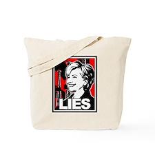 Clinton: LIES Tote Bag