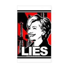Clinton: LIES Rectangle Decal