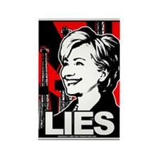 Clinton: LIES Rectangle Magnet