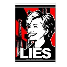 Clinton: LIES Postcards (Package of 8)