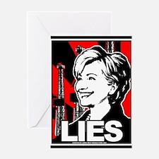 Clinton: LIES Greeting Card