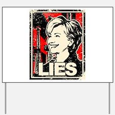 Distressed Clinton Yard Sign
