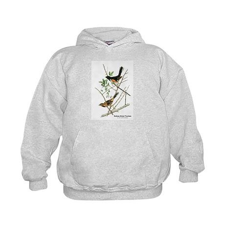Audubon Towhee Bird (Front) Kids Hoodie