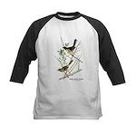 Audubon Towhee Bird Kids Baseball Jersey