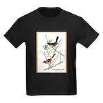 Audubon Towhee Bird (Front) Kids Dark T-Shirt