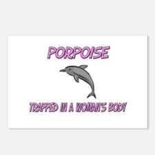 Porpoise Trapped In A Woman's Body Postcards (Pack