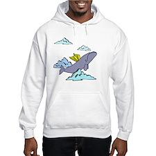 cute flying whale Hoodie