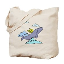 cute flying whale Tote Bag
