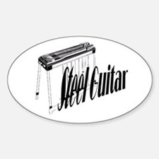 Steel Guitar Oval Decal