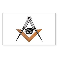 Square and Compass with all seeing eye Decal