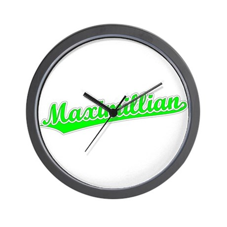 Retro Maximillian (Green) Wall Clock