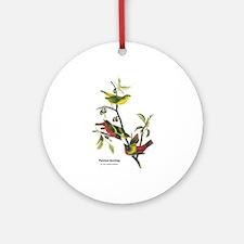Audubon Painted Bunting Bird Ornament (Round)