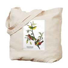 Audubon Painted Bunting Bird Tote Bag