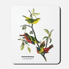 Audubon Painted Bunting Bird Mousepad