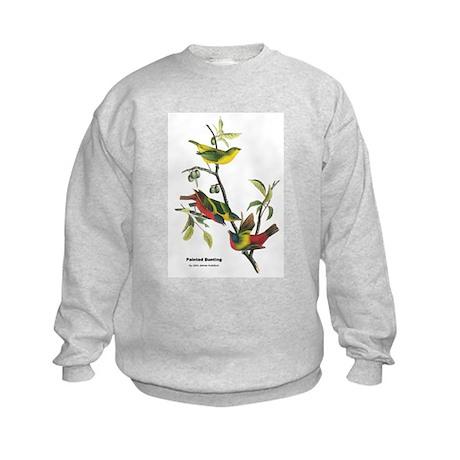 Audubon Painted Bunting Bird Kids Sweatshirt