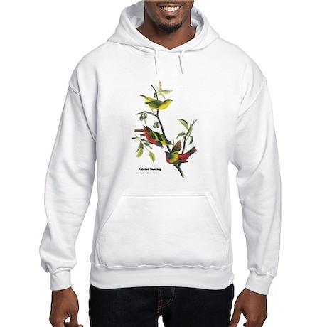 Audubon Painted Bunting Bird Hooded Sweatshirt