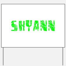 Shyann Faded (Green) Yard Sign
