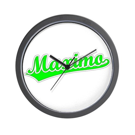 Retro Maximo (Green) Wall Clock