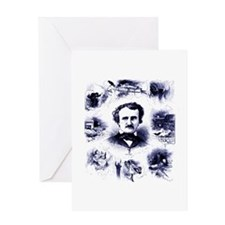 Poe and His Works Greeting Card