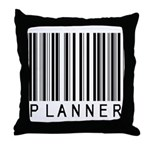 Planner Barcode Throw Pillow