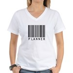 Planner Barcode Women's V-Neck T-Shirt