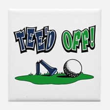 Funny Golf Gifts Tile Coaster
