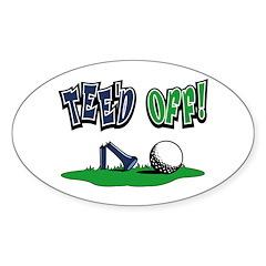 Funny Golf Gifts Oval Sticker (10 pk)