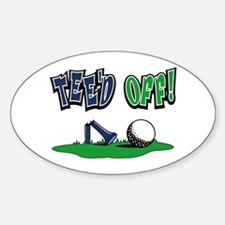 Funny Golf Gifts Oval Decal
