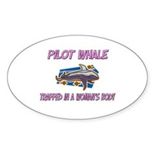 Pilot Whale Trapped In A Woman's Body Decal