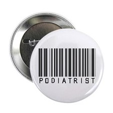 "Podiatrist Barcode 2.25"" Button (10 pack)"
