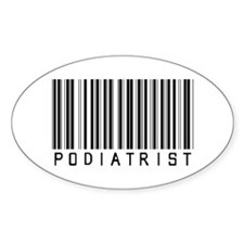 Podiatrist Barcode Oval Decal