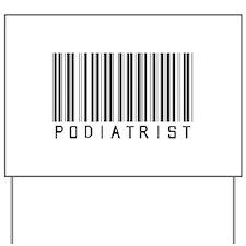 Podiatrist Barcode Yard Sign