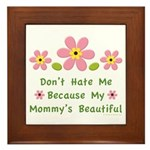 Funny Mommy Beautiful Framed Tile