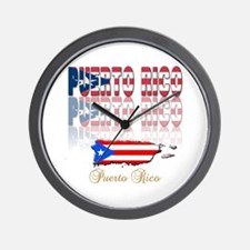 Puerto rican pride Wall Clock