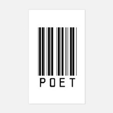 Poet Barcode Rectangle Decal