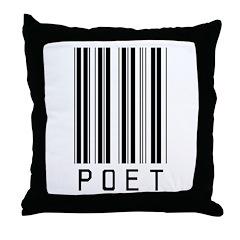 Poet Barcode Throw Pillow