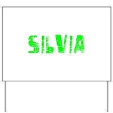 Silvia Faded (Green) Yard Sign