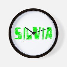 Silvia Faded (Green) Wall Clock