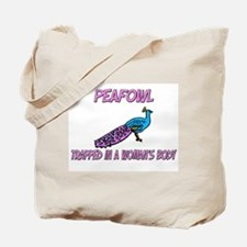 Peafowl Trapped In A Woman's Body Tote Bag