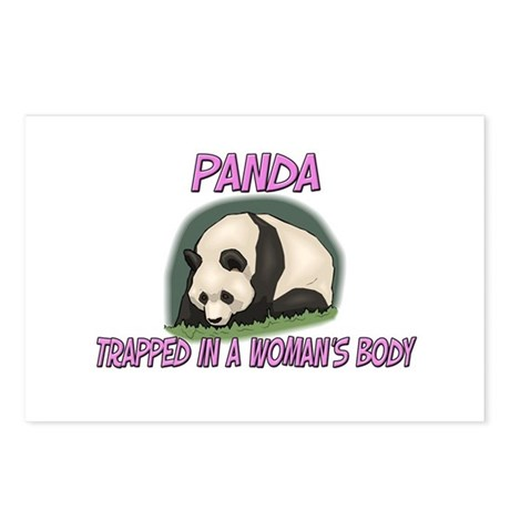 Panda Trapped In A Woman's Body Postcards (Package