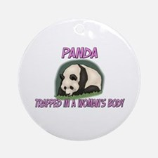 Panda Trapped In A Woman's Body Ornament (Round)