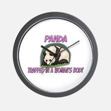 Panda Trapped In A Woman's Body Wall Clock