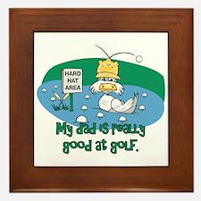 Dad's Golf Gifts Framed Tile