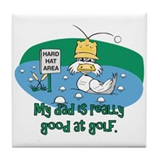 Dad's Golf Gifts Tile Coaster
